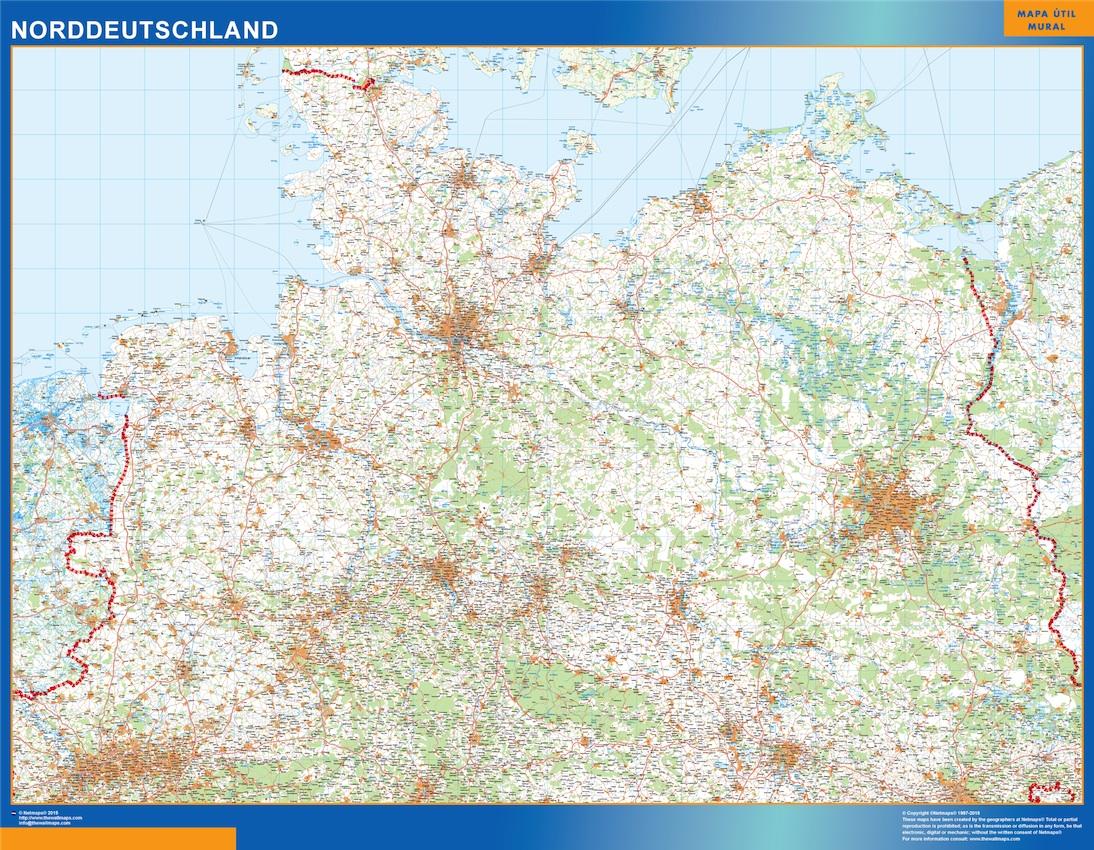 Norddeutschland Landkarte Bei Netmaps Karten Deutschland