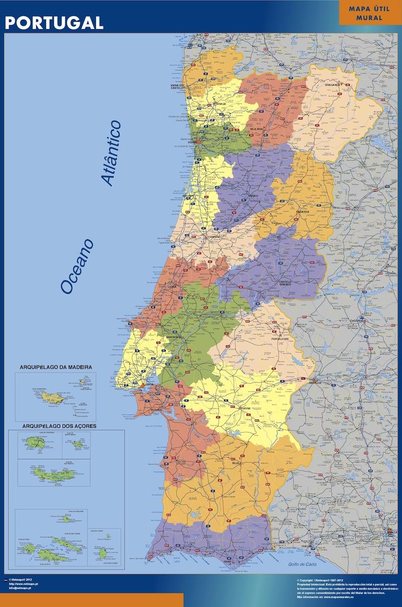 Portugal Landkarte Bei Netmaps Karten Deutschland