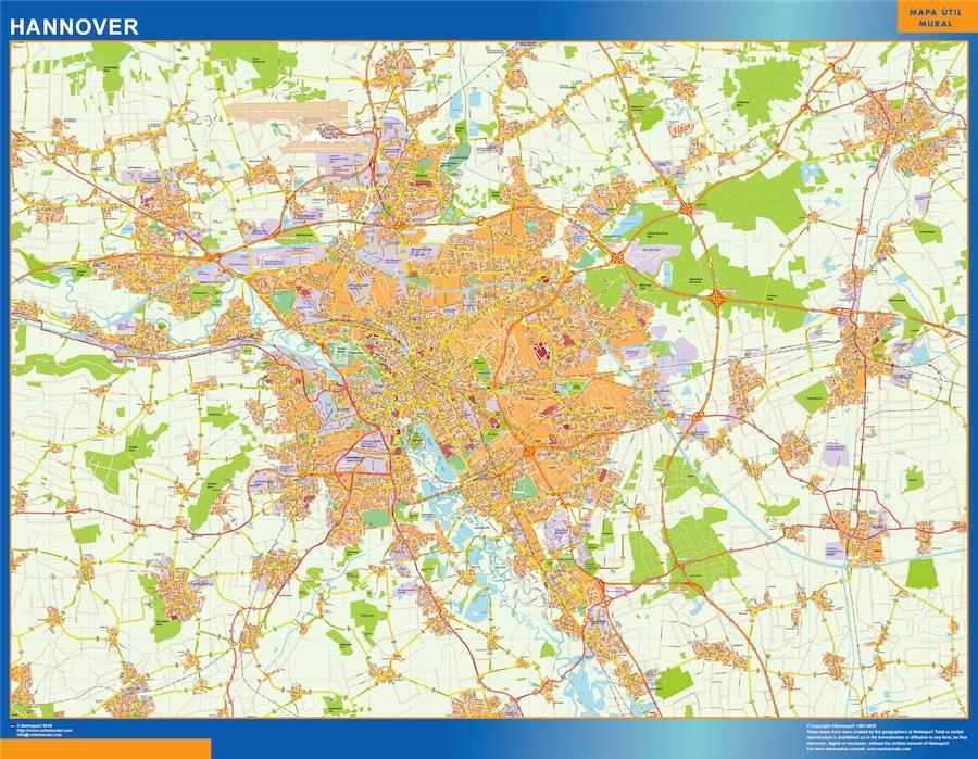 Stadtplan Hannover Wandkarte Bei Netmaps Karten Deutschland