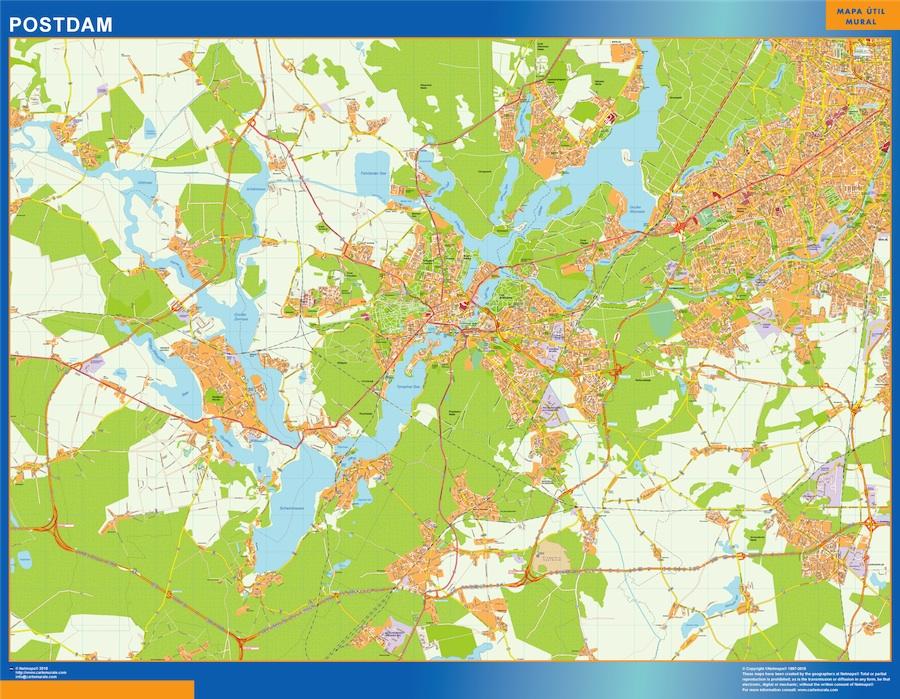 Stadtplan Potsdam wandkarte