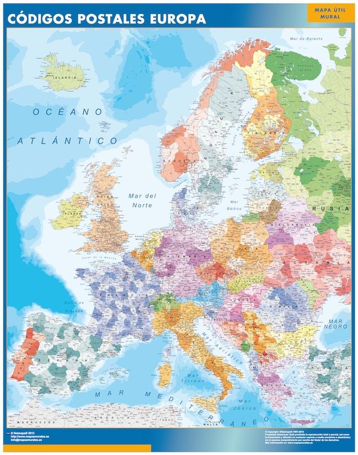 Europa Postleitzahlen Karte Spanisch Bei Netmaps Karten Deutschland