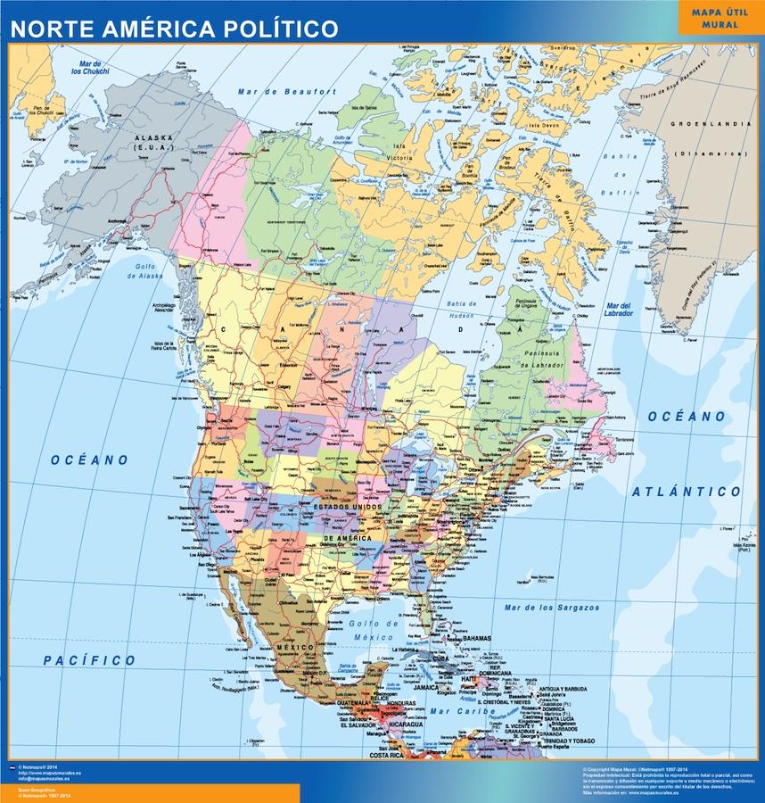 Nordamerika Landkarte Spanisch Bei Netmaps Karten Deutschland