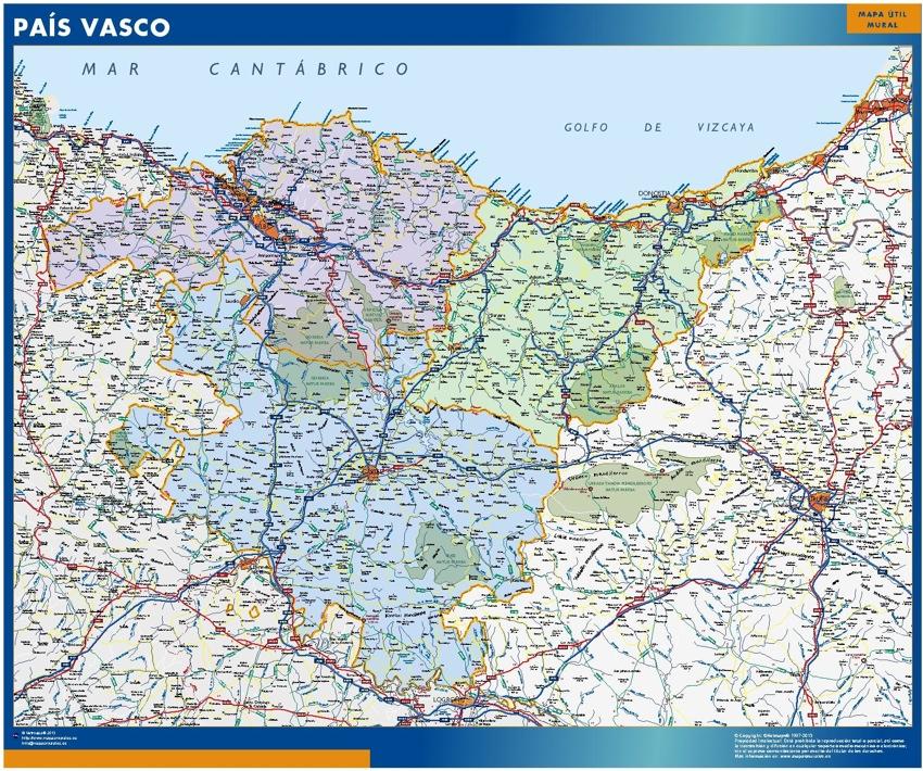 Baskenland karte Spanien