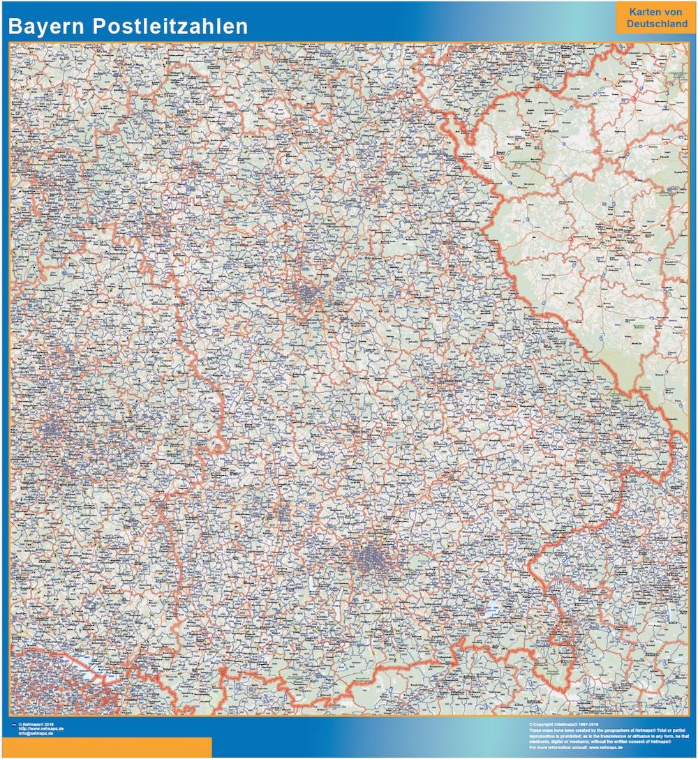 Bayern Postleitzahlen Bei Netmaps Karten Deutschland