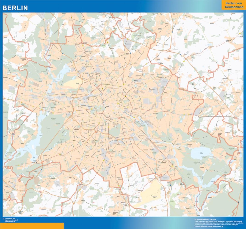 Berlin Wandkarte