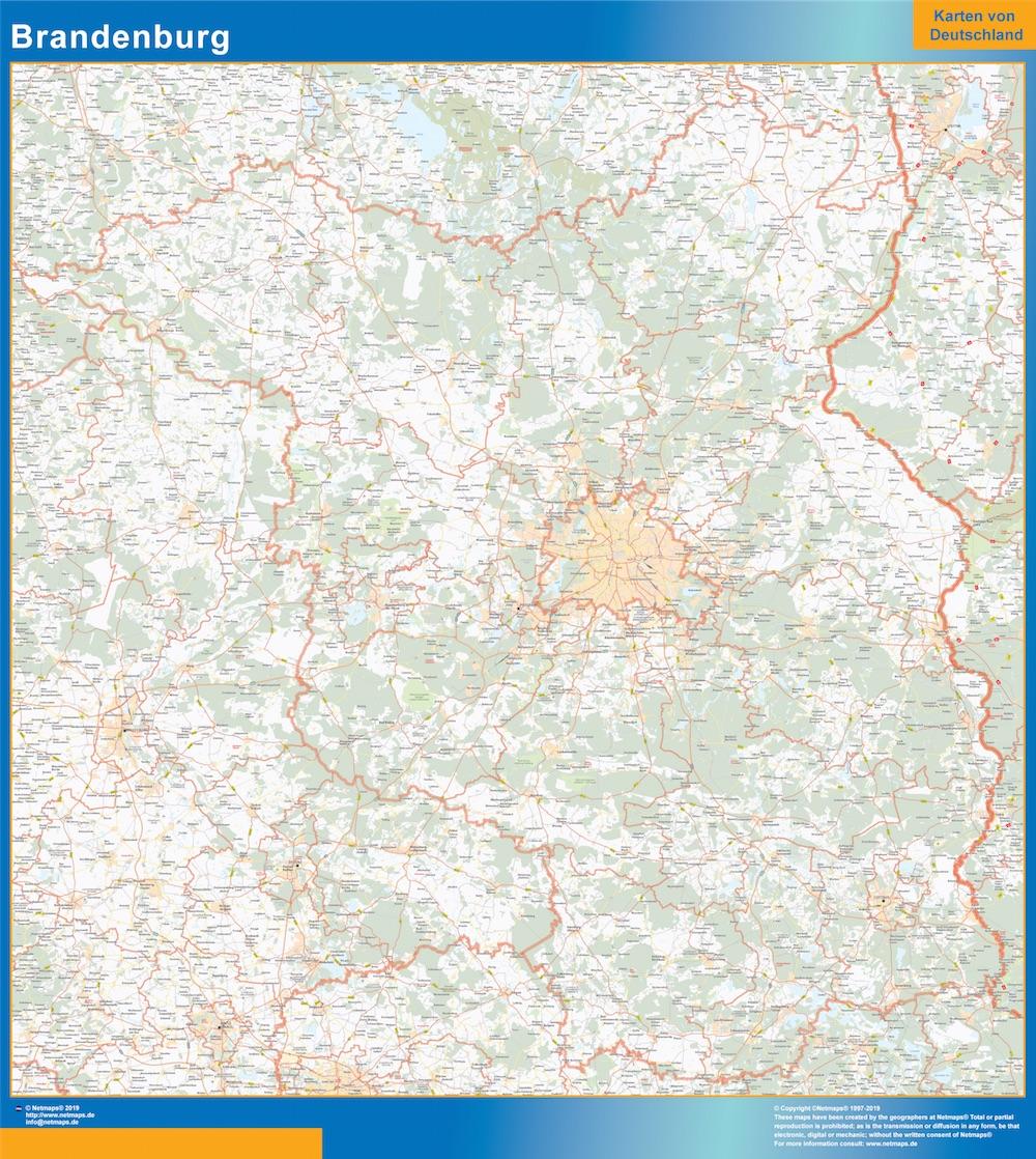 Brandenburg Wandkarte