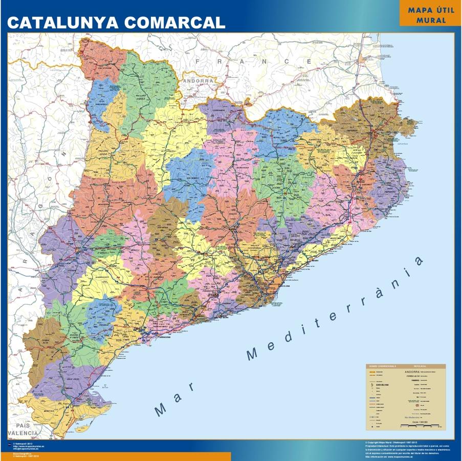 Karte von Katalonien Spanien