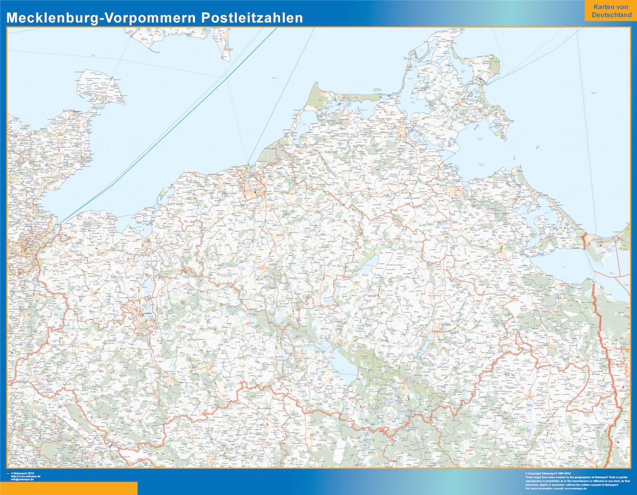 Mecklenburg-Vorpommern Postleitzahlen