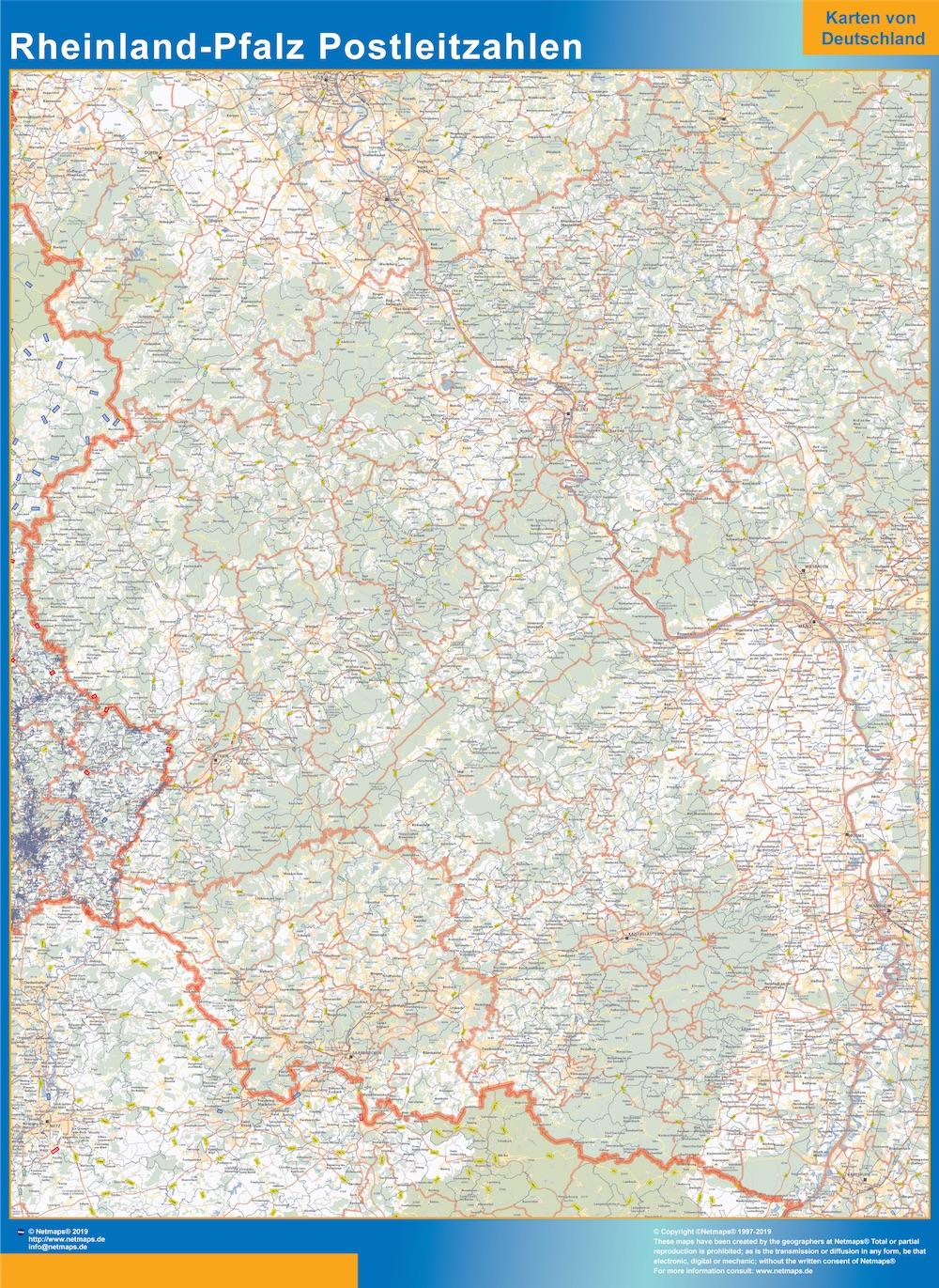Rheinland-Pfalz Postleitzahlen