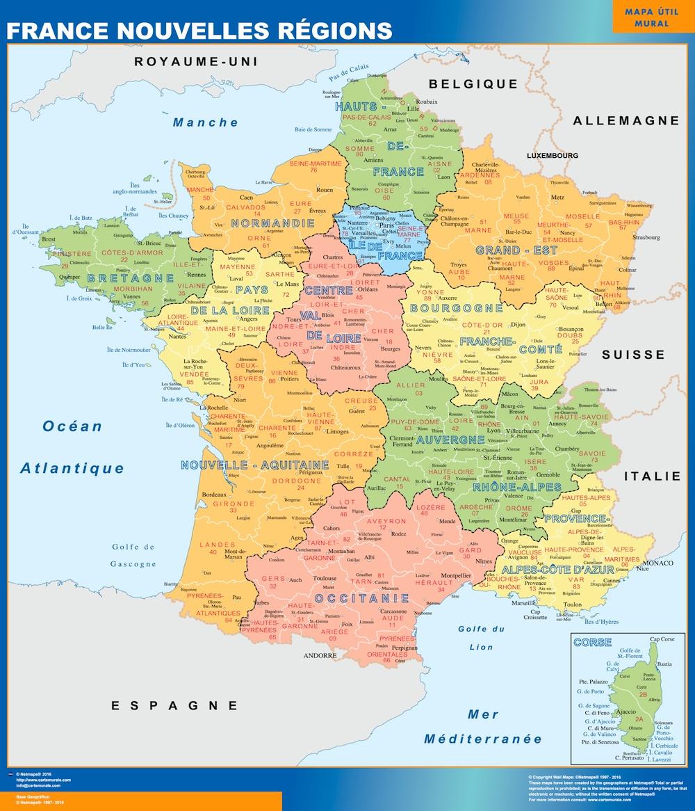 Neue Regionen Frankreichs